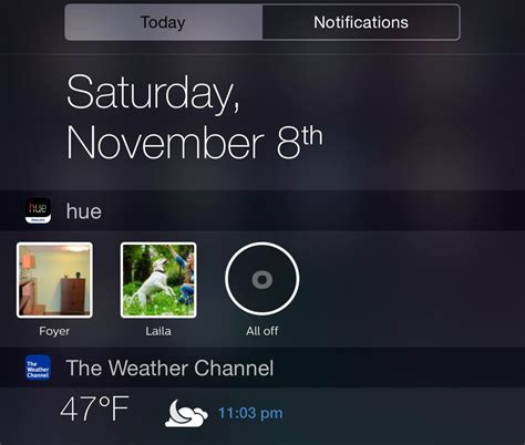 control house lights with iphone now control your hue lights with a widget in the ios 8