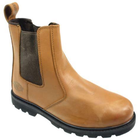 mens dealer work boots mens dickies steel toe safety leather chelsea dealer