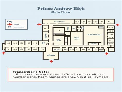 Design a room layout, high school building floor plans