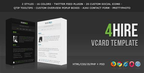 vcard templates vcard free template 28 images one page vcard template