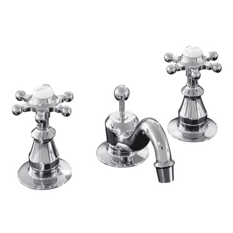 Kohler Antique Shower Faucet by Shop Kohler Antique Polished Chrome 2 Handle Widespread