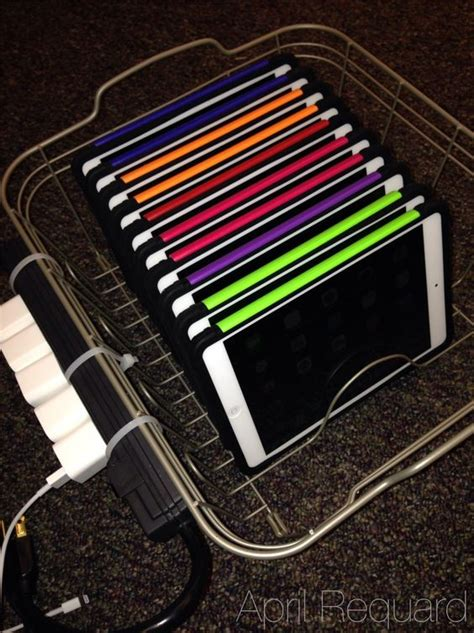 diy chromebook charging station a diy ipad sync charge station i like the power strip on