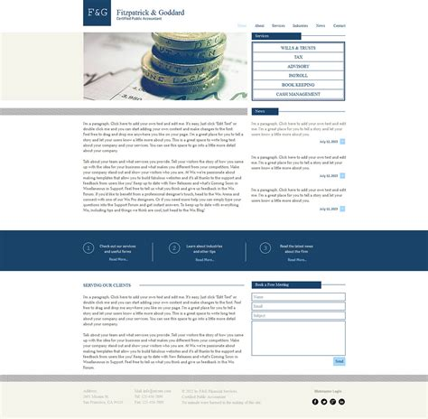 wix html templates accounting website wix website template 47294