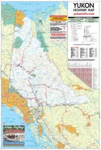 yukon map large detailed map highways rivers