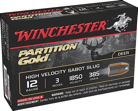 Rd 123 Gold winchester supreme partition gold slugs ssp123 12 3