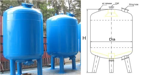 Water Filter Tank carbon steel lining rubber water filter tank with media