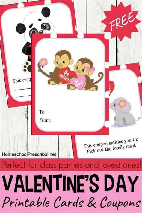 free printable animal valentines day cards free animal themed printable valentines day cards for kids