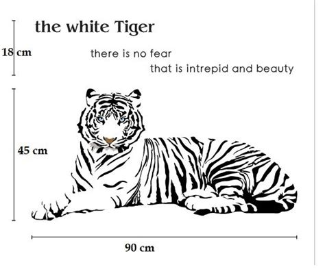 Tiger Wall Stickers white tiger wall stickers online shopping of wall