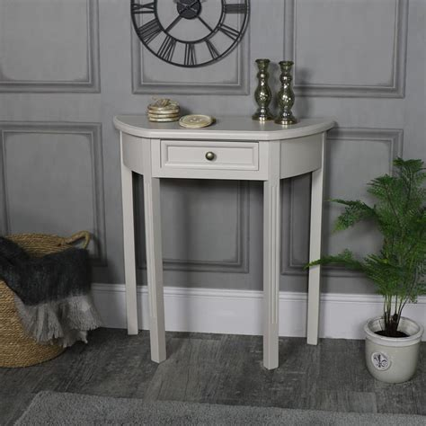 half moon console table with drawer half moon console table with drawer storage daventry grey