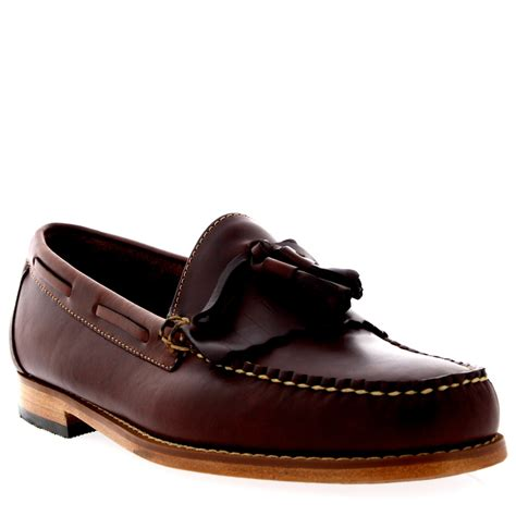 bass shoes loafers mens g h bass weejuns layton pull up kiltie smart leather
