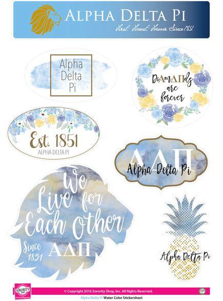 alpha delta pi colors alpha delta pi adpi sorority stickers water color