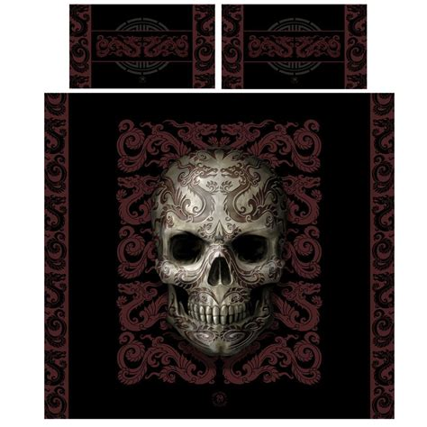 Bed Cover Ukuran 220 X 230 Microtex Polos Bed Cover Only skull duvet pillow covers set uk king us hearts