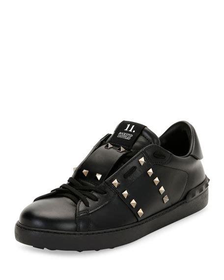 valentino mens sneakers valentino garavani rockstud untitled s leather low top
