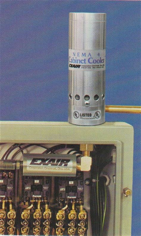 compressed air cabinet coolers exair cabinet cooler