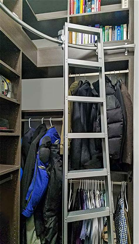 corner closet  closet ladder increases usable storage