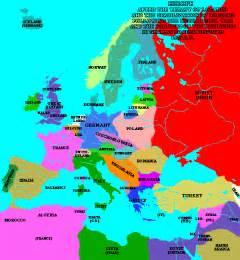 Post World War 1 Map by Europe Map After World War 2