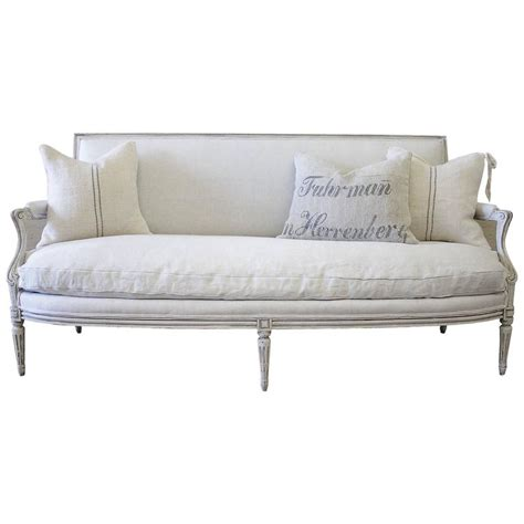 belgian linen sofa antique louis xvi style french sofa in natural belgian