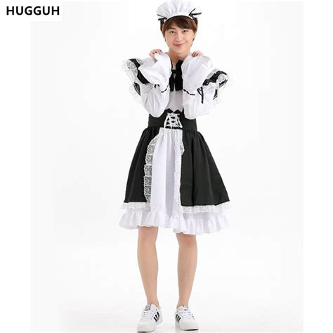 male maid hugguh brand new male clothes japanese style anime maid