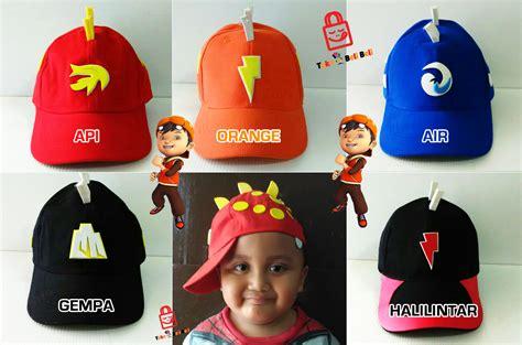 Sale Kaos Anak Karakter Boboiboy buy topi anak karakter boboiboy api gempa halilintar air