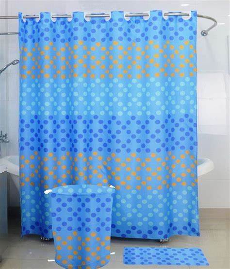Polyester Shower Curtains Skap Blue Polyester Shower Curtain Buy Skap Blue Polyester Shower Curtain At Low Price
