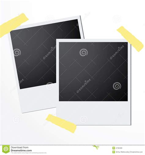 Polaroid Card Template by Polaroid Cards Vector Stock Photo Image 4732400