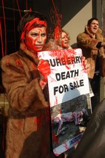 Peta Burberry by Burberry S Milan Boutique Covered In Blood Peta