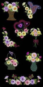 Bed Cover Rumbai Summer Flower Import delights floral machine embroidery designs cd 4x4