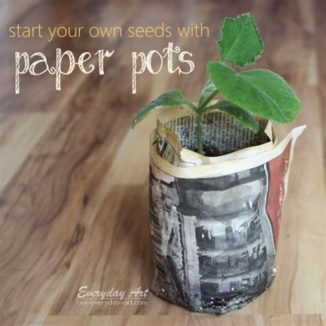 Make Your Own Seed Paper - make your own paper pots for starting seeds by everyday