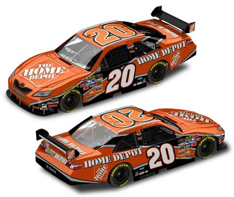 tony stewart 2008 home depot car of tomorrow nascar