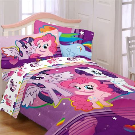 my little pony bed set my little pony 4pc twin comforter and sheet set bedding