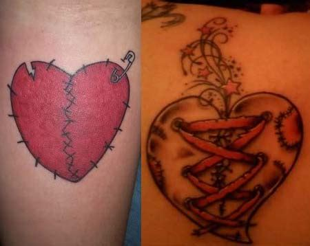 broken heart tattoos designs broken tattoos designs ideas meaning