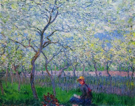 spring paint an orchard in spring 1886 claude monet wikiart org