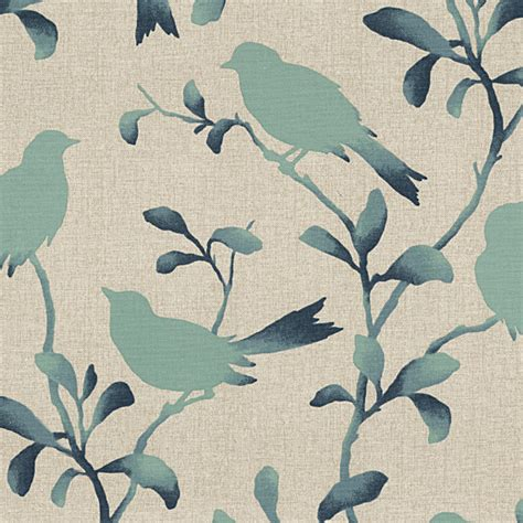 upholstery fabric birds aqua bird silhouette cotton fabric contemporary