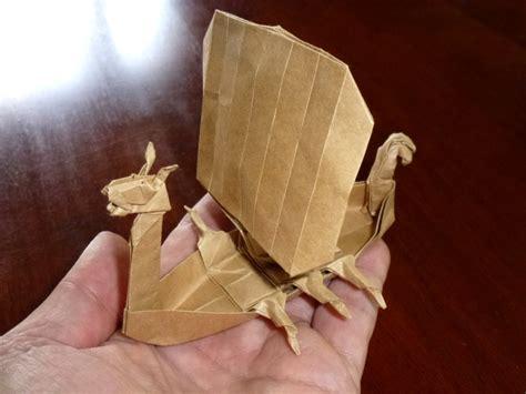 viking longboat origami 515 viking longship setting the crease