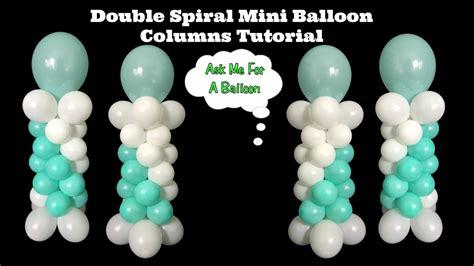 Double spiral mini balloon columns tutorial youtube