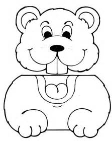 Paper Bag Puppet Template by Best Photos Of Groundhog Cut Out Pattern For Preschoolers
