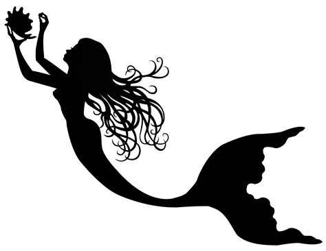 mermaid silhouette tattoo mermaid silhouette like the hair inspirations