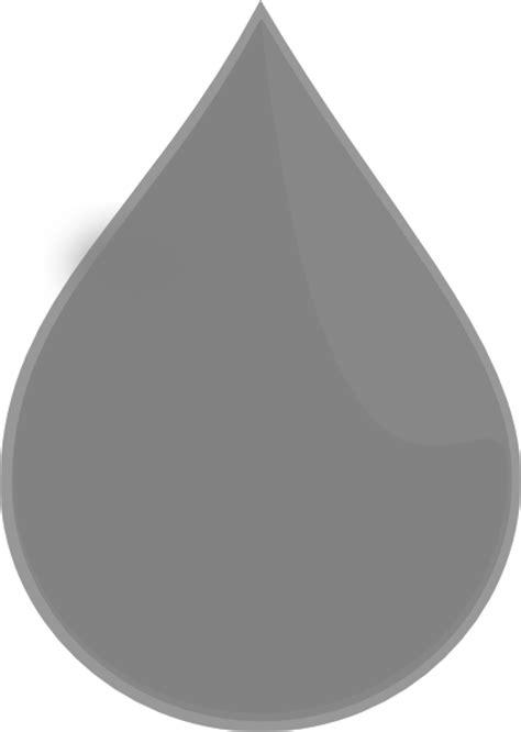 Silver Rain Drop - Vertical Clip Art at Clker.com - vector