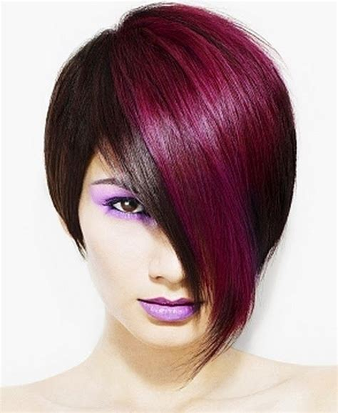 short hairstyles with dye hair color ideas picmia