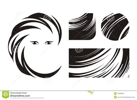 hairstyle logo ideas hair and beauty logos or icons stock illustration