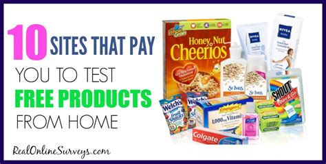 get paid to test free products 10 legit product