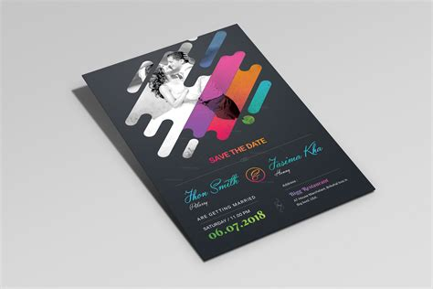 colorful wedding invitation templates colorful creative wedding invitation template