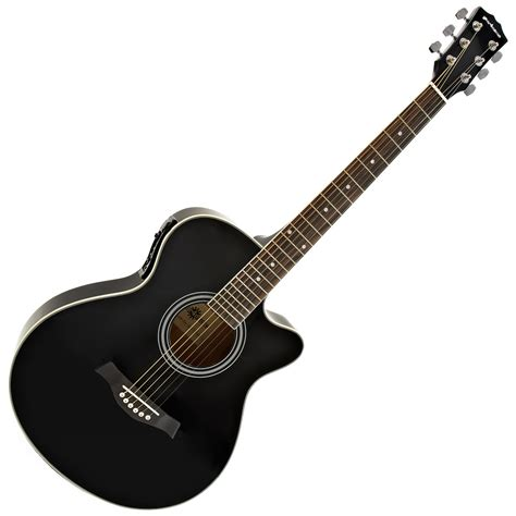 Gitar Accoustic single cutaway electro acoustic guitar by gear4music