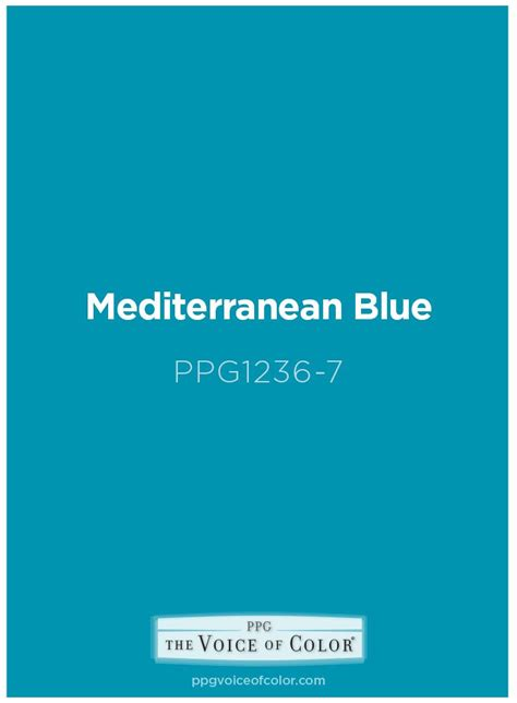 mediterranean blue paint color is a bright teal hue this