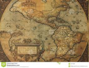 ancient maps of and south america stock image