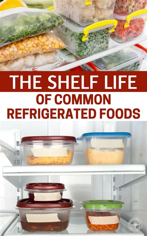 Shelf Of Refrigerated Foods by The Shelf Of Common Refrigerated Foods