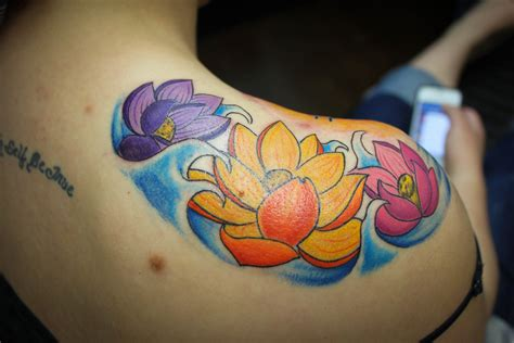 lotus flower shoulder tattoo flower tattoos and their meaning lotus flower tattoos