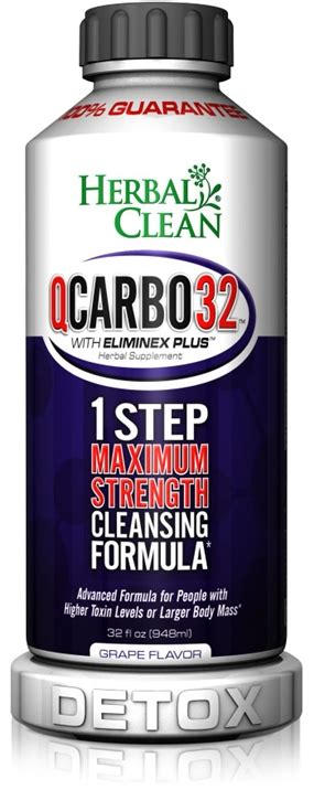 Q Clean Detox by Q Carbo 32 Liquid Grape 32 Oz Herbal Clean Detox