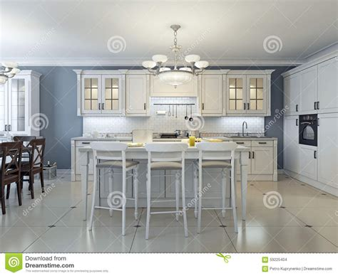 deco kitchen design bright deco kitchen design stock illustration image