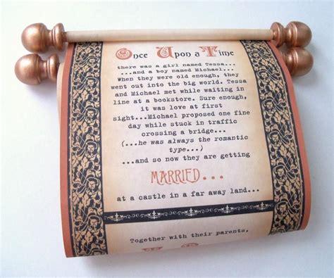 renaissance scroll wedding invitations copper and black wedding invitation scrolls